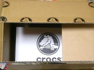 crocs 公式サイトの箱